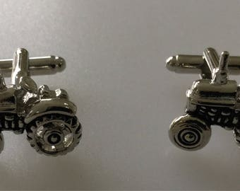 Vintage Tractor Chrome Cufflink Set Boxed