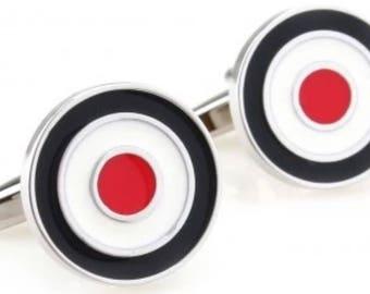 Mod Target Cufflink Set Boxed