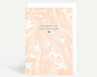 So Grateful For You Mum Greetings Card