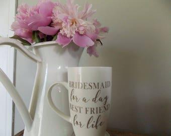 Listing Add On: Bridesmaids Names + Dates On Mug