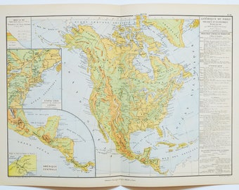 1895 large north america map antique map antique united states map vintage us