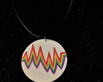 Heart Beats With Pride Necklace, Gay Pride Necklace,Gay Necklace,Gay Pride, Gay Jewelry, Rainbow NecklaceGay , Gay Pride Flag,  Gay Gifts