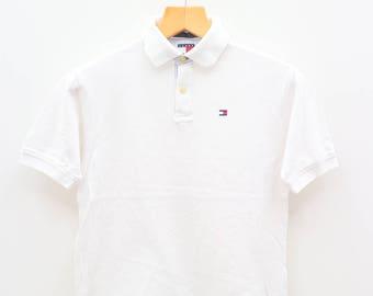Vintage TOMMY HILFIGER White Tee T Shirt Size M