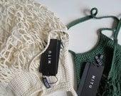 Crochet net bag, french style string shopping bag, mesh bag, cotton shopping bag, eco-friendly bag, grocery tote, net beach bag