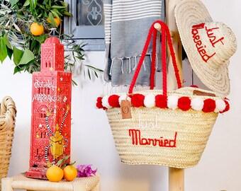 """Basket Original Marrakech """"Just Married"""""""