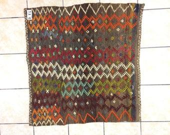 Handmade rug,Anatollion rug,Hand woven Nomad rug,Edges comb model rug,Vintage rug