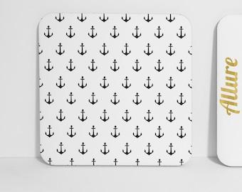 Black Anchor Nautical Coaster
