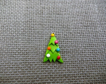 polymer clay Christmas tree charm
