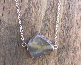 brown quartz accent stone