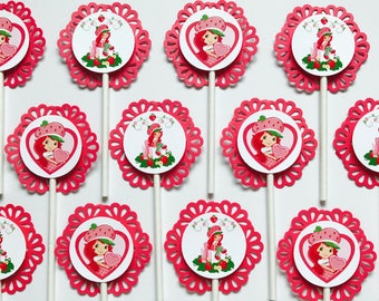 12 STRAWBERRY SHORTCAKE Cupcake Topper - Party Picks - DISNEY