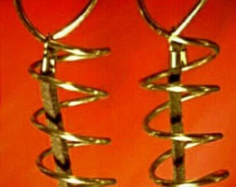 Silver Spiral Dangles