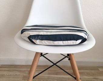 3cm or 6cm high seat cushion abstract pattern blue white Eames Chair modern and elegant with zipper
