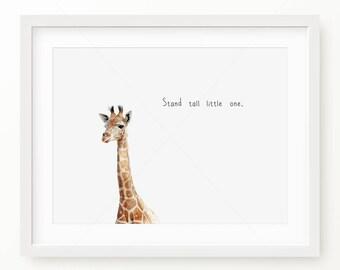 Nursery Decor, Giraffe Digital Print, Safari Nursery Wall Art Printable Digital Download, Instant Download Printable Art, Printable Wall Art