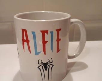 spiderman personalised mug