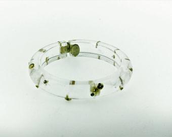 Alexis Bittar Women's Lucite Studded Bangle Bracelet/clear