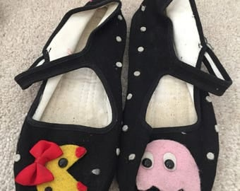 Mary Janes womans size 7 pac man