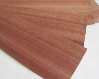 Natural Wood Veneer, 5 Wooden Sheets, Wood Veneer Craft,  Natural Decor