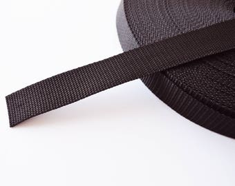 Webbing strapping 20/25mm polypropylene black bags straps