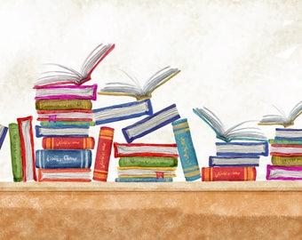 Watercolour Books Clip Art Graphic Design PNG High Resolution I64