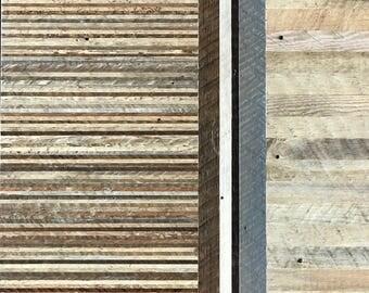 reclaimed lath wall. reclaimed wood wall art, lath, pattern, decor, geometric lath