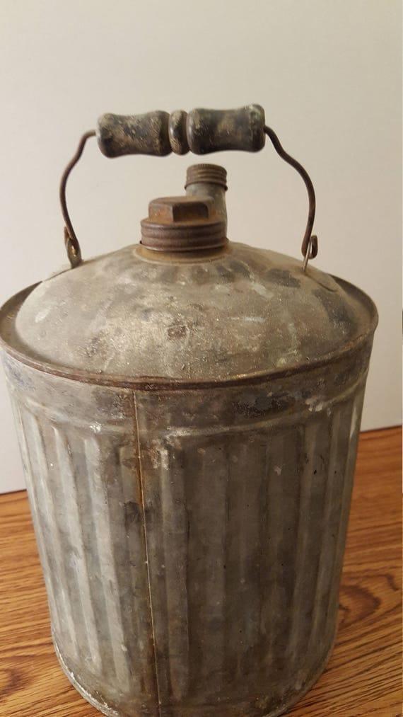 1930u0027s Galvanized Oil, Gas, Kerosene Can, Rustic Decor, Home Decor, Office  Decor, Antique Car, Classic Car, Garage, Farmhouse Decor