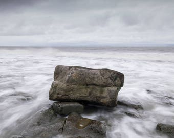 High tide at Rhoose Point