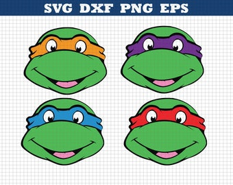 Teenage Mutant Ninja Turtles, Svg Dxf Png Eps,Cutting File,Silhouette Studio,Cutting Machines,Cricut Cameo,INSTANT DOWNLOAD