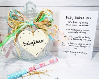 Baby Dates Jar - Baby Shower Idea