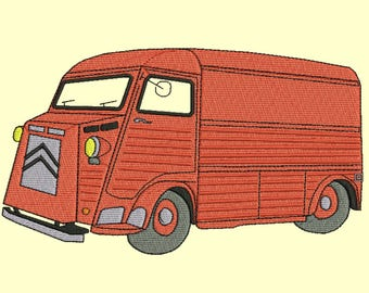 Citroen H Type embroidery design