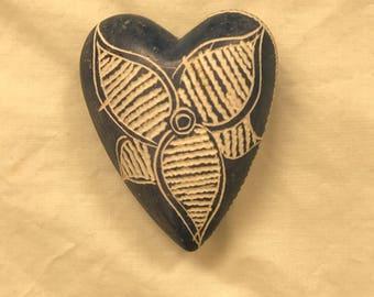 Blue River Rock Heart