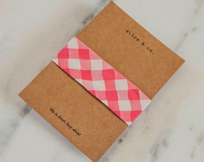 Pink Vichy pattern