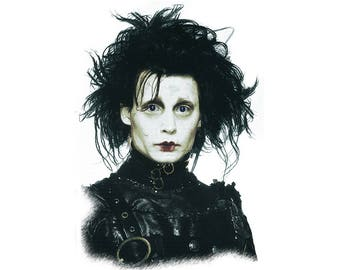 T-SHIRT: Edward Scissorhands / Johnny Depp - Classic T-Shirt & Ladies Fitted Tee - (LazyCarrot)