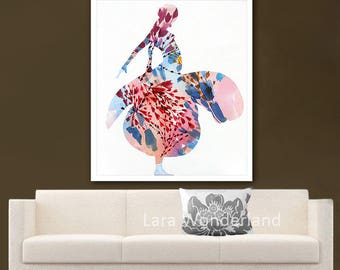 Abstract Painting, Original Flowers Painting, Floral Art, Flower Abstract Art, Wall Decor