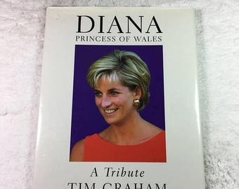 ON SALE Diana Princess of Wales: A Tribute book by Tim Graham / Welcome Rain Books ©1997 / fashion icon / British royal family / Princess Di