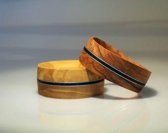 Bracelet olive wood or walnut wood
