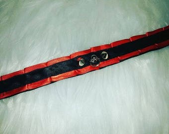 1' thick red and black simple collar