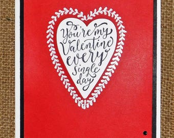 Homemade Valentine Card.