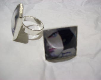 """Fully Adjustable Type O negative inspired """"Peter Steele"""" Square Ring"""