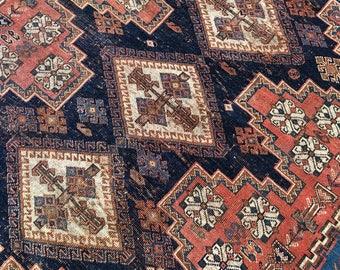 "4'9""x5'9"" Antique Persian Afshar Rug"