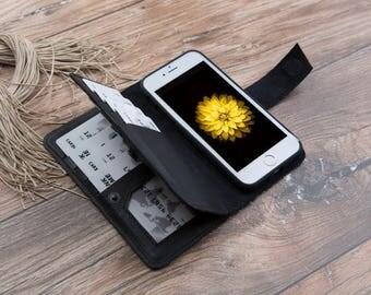 iPhone 7 Leather Case, iPhone 7 Wallet Case, iPhone 7 Black Case, iPhone 7 Case Black, Leather iPhone 7 Case, iPhone 7 Wallet #PAKHET PLUS