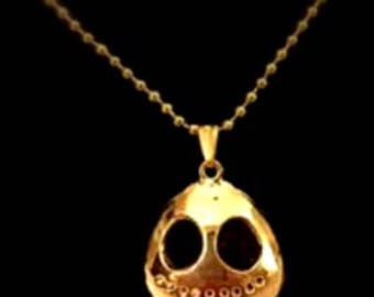 Smiling Skeleton Sweater Chain Necklace