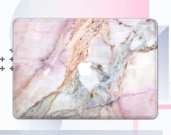 Pink Marble Macbook Pro 13 2017 Case Laptop Case Macbook Cover Macbook Air Macbook Pro Case Macbook Air Macbook Marble Case Macbook mCM01