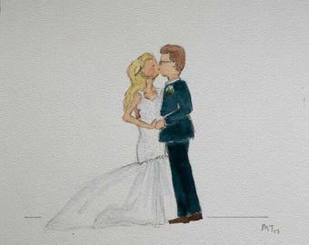Custom Wedding Watercolor Illustration