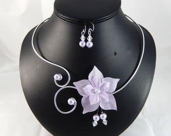 Eline - Set purple flower / purple - customizable