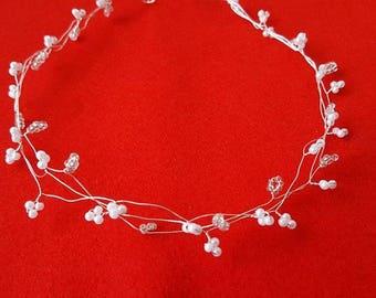 Headband beads wedding bridal jewellery headpiece