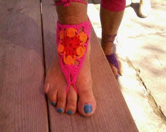 Jewels of skin for the feet crochet