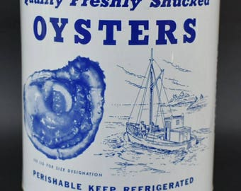 Madison One Gallon Oyster Tin Can