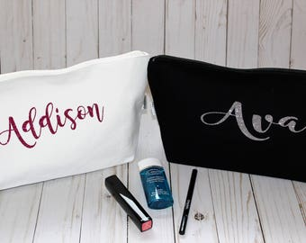 Makeup Bag, Makeup Case, Cosmetic Bag, Large Makeup Bag, Toiletry Bag, Makeup Pouch, Travel Makeup Bag, Personalized Makeup Bag, Bridesmaid