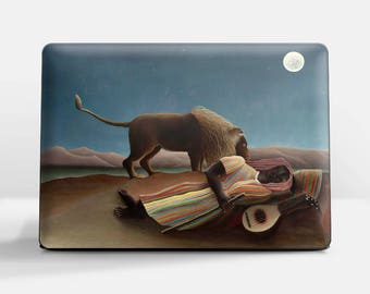 "Laptop skin (Custom size). Henri Rousseau, ""The Sleeping Gypsy"". Laptop cover, HP, Lenovo, Dell, Sony, Asus, Samsung etc."