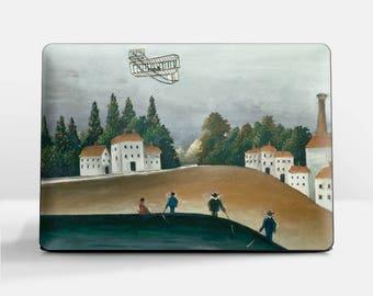 "Laptop skin (Custom size). Henri Rousseau, ""The Fishermen and the Biplane"". Laptop cover, HP, Lenovo, Dell, Sony, Asus, Samsung etc."